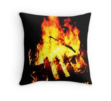 Heat in the Winter Throw Pillow