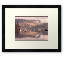 Morning reflections of Loch Ness Framed Print