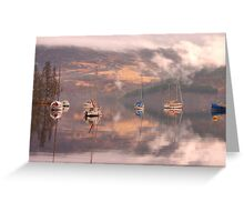Morning reflections of Loch Ness Greeting Card
