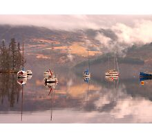 Morning reflections of Loch Ness Photographic Print