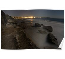 seaside by night - dee why Poster