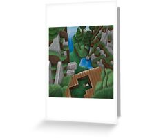 Realistic Minecraft World Greeting Card