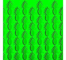 Pineapple Lines - true green Photographic Print