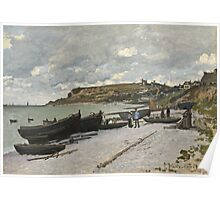 Seascape at Port-en-Bessin, Normandy Poster
