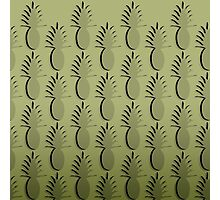 Pineapple Lines - sage Photographic Print