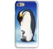 Emperor penguin with chick iPhone Case/Skin