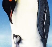 Emperor penguin with chick Sticker