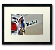 White T bird , Blue van. Framed Print
