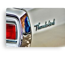White T bird , Blue van. Canvas Print