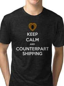 Keep Calm and Counterpartshipping Tri-blend T-Shirt