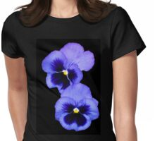 Pretty Pansy Pair Womens Fitted T-Shirt