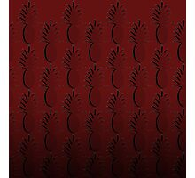 Pineapple Lines - burgundy Photographic Print