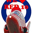 We Love Red 10 - Red Arrows Tee Shirt by Colin  Williams Photography