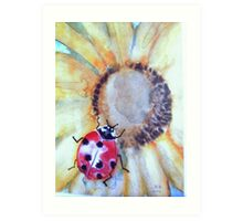 When you see a Lady-bug spring is near Art Print