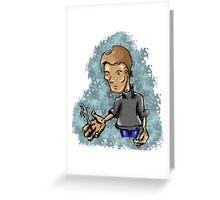 Fork Bending Greeting Card