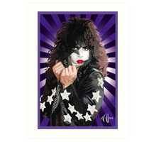 Kiss Paul Stanley vector pop art Art Print