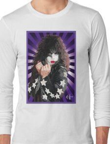 Kiss Paul Stanley vector pop art Long Sleeve T-Shirt