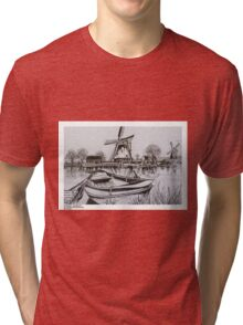 WINDMILLS HOLLAND Tri-blend T-Shirt