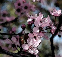Spring Plum Blossoms Sticker