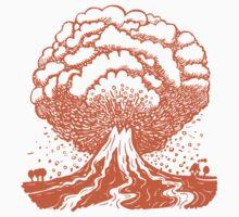 Volcano - Orange by Artberry