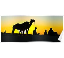 Sunset at Sand Dunes Poster