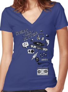 Stereo can provide Women's Fitted V-Neck T-Shirt