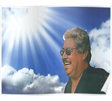 Dad smiling in Heaven Poster