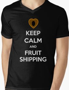 Keep Calm and Fruitshipping! Mens V-Neck T-Shirt