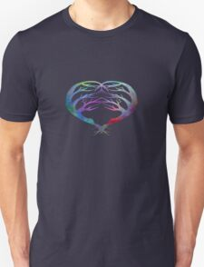 Trees Silhouette- Heart Shaped T-Shirt