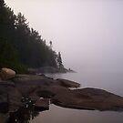 Misty Canoe by JimSanders
