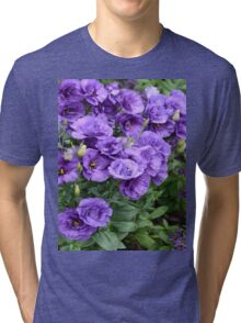 Raindrops on Lisianthus Garden Tri-blend T-Shirt