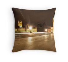 big ben. quiet Throw Pillow