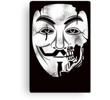 Anonymous Skull Mask Canvas Print