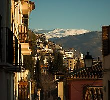 Granada, Spain with Sierra Nevada by Hugh Chaffey-Millar