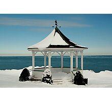 Winter Gazebo Photographic Print