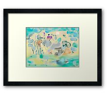 a day at the beach yesterday Framed Print