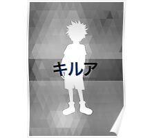 Killua Monochrome Poster