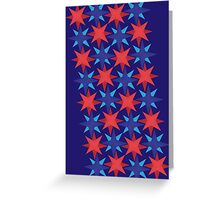 USA stars in a stripe - Red, White and Blue Greeting Card