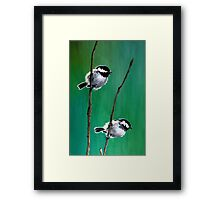 Coal Tits on Mountain Ash Framed Print