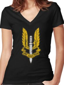 Special Air Service Women's Fitted V-Neck T-Shirt