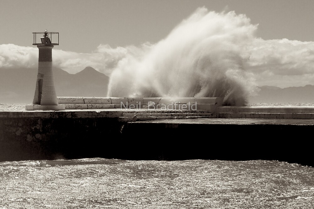 Lighthouse Swell at Kalk Bay by Neil  Bradfield