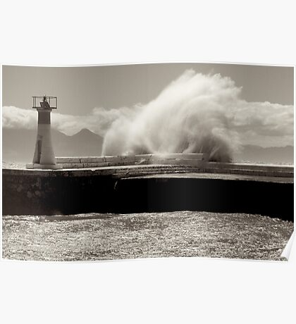 Lighthouse Swell at Kalk Bay Poster