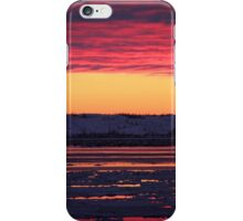 Sunset at Churchill, Canada iPhone Case/Skin