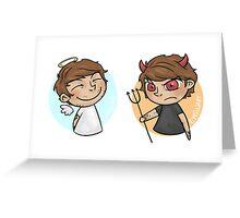 Angel & Devil Greeting Card
