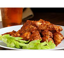 Wings and Beer Photographic Print