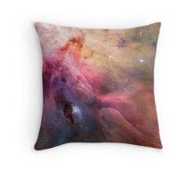 Orion Nebula / Pastel Rainbow Throw Pillow