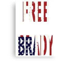 FREE BRADY AMERICAN FLAG Canvas Print