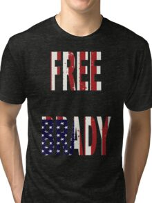 FREE BRADY AMERICAN FLAG Tri-blend T-Shirt