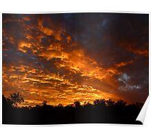 Sunset from Goodna Mine Poster