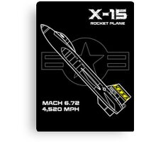 X-15 Rocket Plane Canvas Print